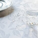 Garnier-Thiebaut tablecloth MILLE CHARMES coated